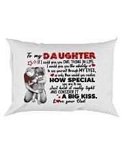 A BIG KISS - LOVELY GIFT FOR DAUGHTER Rectangular Pillowcase front