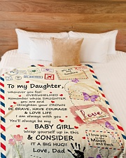 "CONSIDER IT A BIG HUG - BEST GIFT FOR DAUGHTER Large Fleece Blanket - 60"" x 80"" aos-coral-fleece-blanket-60x80-lifestyle-front-02"