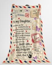 "CONSIDER IT A BIG HUG - BEST GIFT FOR DAUGHTER Large Fleece Blanket - 60"" x 80"" aos-coral-fleece-blanket-60x80-lifestyle-front-10"