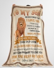 """NEVER FORGET THAT I LOVE YOU Large Fleece Blanket - 60"""" x 80"""" aos-coral-fleece-blanket-60x80-lifestyle-front-10"""