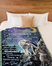 "I AM SO PROUD OF YOU Large Fleece Blanket - 60"" x 80"" aos-coral-fleece-blanket-60x80-lifestyle-front-02"
