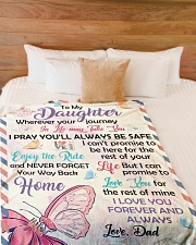 """I PRAY YOU'LL ALWAYS BE SAFE Large Fleece Blanket - 60"""" x 80"""" aos-coral-fleece-blanket-60x80-lifestyle-front-02"""
