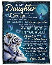 BELIEVE IN YOURSELF - AMAZING GIFT FOR DAUGHTER Fleece Blanket tile
