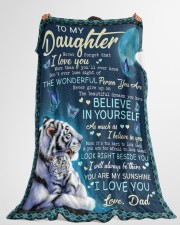 """BELIEVE IN YOURSELF - AMAZING GIFT FOR DAUGHTER Large Fleece Blanket - 60"""" x 80"""" aos-coral-fleece-blanket-60x80-lifestyle-front-10"""