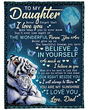 "BELIEVE IN YOURSELF - AMAZING GIFT FOR DAUGHTER Large Fleece Blanket - 60"" x 80"" front"