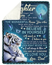 "BELIEVE IN YOURSELF - AMAZING GIFT FOR DAUGHTER Large Sherpa Fleece Blanket - 60"" x 80"" thumbnail"