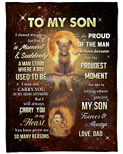 """CARRY YOU IN MY HEART - SPECIAL GIFT FOR SON Large Fleece Blanket - 60"""" x 80"""" front"""