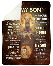 """CARRY YOU IN MY HEART - SPECIAL GIFT FOR SON Large Sherpa Fleece Blanket - 60"""" x 80"""" thumbnail"""