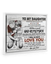 BELIEVE IN YOURSELF - AMAZING GIFT FOR DAUGHTER 14x11 White Floating Framed Canvas Prints thumbnail