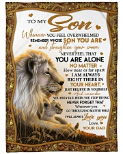 """BELIEVE IN YOURSELF - PERFECT GIFT FOR SON Large Fleece Blanket - 60"""" x 80"""" front"""