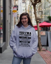 HE LOVES ROCK MUSIC - LOVELY GIFT FOR DAUGHTER Hooded Sweatshirt lifestyle-unisex-hoodie-front-2