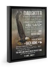 I BELIEVE IN YOU - GREAT GIFT FOR DAUGHTER Floating Framed Canvas Prints Black tile