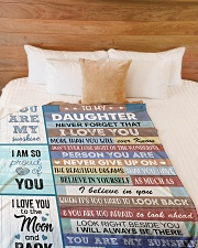 """YOU ARE MY SUNSHINE Large Fleece Blanket - 60"""" x 80"""" aos-coral-fleece-blanket-60x80-lifestyle-front-02"""