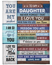 """YOU ARE MY SUNSHINE Large Fleece Blanket - 60"""" x 80"""" front"""