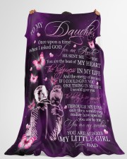 "MY LITTLE GIRL - TO DAUGHTER FROM DAD Large Fleece Blanket - 60"" x 80"" aos-coral-fleece-blanket-60x80-lifestyle-front-10"