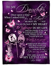 "MY LITTLE GIRL - TO DAUGHTER FROM DAD Large Fleece Blanket - 60"" x 80"" front"