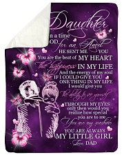 "MY LITTLE GIRL - TO DAUGHTER FROM DAD Large Sherpa Fleece Blanket - 60"" x 80"" thumbnail"