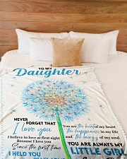 """I BELIEVE IN LOVE AT FIRST SIGHT Large Fleece Blanket - 60"""" x 80"""" aos-coral-fleece-blanket-60x80-lifestyle-front-02"""