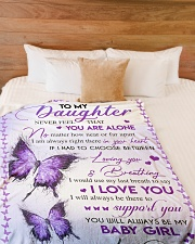 """I LOVE YOU - TO DAUGHTER FROM DAD Large Fleece Blanket - 60"""" x 80"""" aos-coral-fleece-blanket-60x80-lifestyle-front-02"""