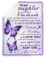 """I LOVE YOU - TO DAUGHTER FROM DAD Large Sherpa Fleece Blanket - 60"""" x 80"""" thumbnail"""