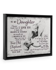 THIS OLD ELEPHANT - PERFECT GIFT FOR DAUGHTER Floating Framed Canvas Prints Black tile