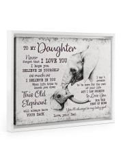 THIS OLD ELEPHANT - PERFECT GIFT FOR DAUGHTER Floating Framed Canvas Prints White tile