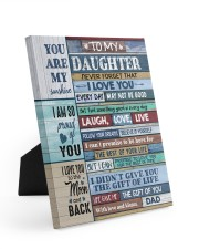 FOLLOW YOUR DREAMS - LOVELY GIFT FOR DAUGHTER 8x10 Easel-Back Gallery Wrapped Canvas thumbnail