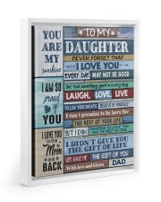 FOLLOW YOUR DREAMS - LOVELY GIFT FOR DAUGHTER 11x14 White Floating Framed Canvas Prints thumbnail