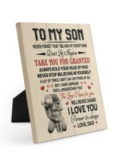 DON'T LET ANYMORE - TO SON FROM DAD 8x10 Easel-Back Gallery Wrapped Canvas thumbnail