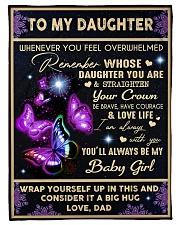 YOU'LL ALWAYS BE MY BABY GIRL Fleece Blanket tile