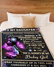 "YOU'LL ALWAYS BE MY BABY GIRL Large Fleece Blanket - 60"" x 80"" aos-coral-fleece-blanket-60x80-lifestyle-front-02"