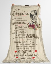 """NEVER GIVE UP - BEST GIFR FOR DAUGHTER Large Fleece Blanket - 60"""" x 80"""" aos-coral-fleece-blanket-60x80-lifestyle-front-10"""