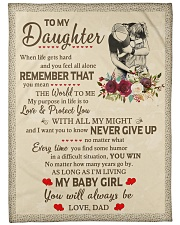 """NEVER GIVE UP - BEST GIFR FOR DAUGHTER Large Fleece Blanket - 60"""" x 80"""" front"""