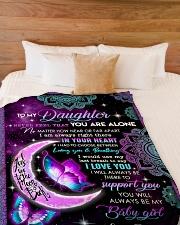 "YOU WILL ALWAYS BE MY BABY GIRL Large Fleece Blanket - 60"" x 80"" aos-coral-fleece-blanket-60x80-lifestyle-front-02"