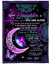 """YOU WILL ALWAYS BE MY BABY GIRL Large Fleece Blanket - 60"""" x 80"""" front"""