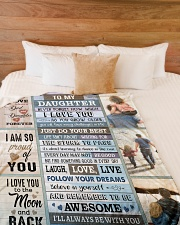 """I'LL ALWAYS BE WITH YOU Large Fleece Blanket - 60"""" x 80"""" aos-coral-fleece-blanket-60x80-lifestyle-front-02"""
