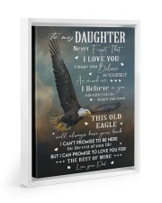 BELIEVE IN YOURSELF - BEST GIFT FOR DAUGHTER Floating Framed Canvas Prints White tile