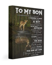 YOU ARE MY SON - TO SON FROM DAD 11x14 Gallery Wrapped Canvas Prints front