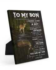 YOU ARE MY SON - TO SON FROM DAD 8x10 Easel-Back Gallery Wrapped Canvas thumbnail