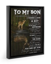 YOU ARE MY SON - TO SON FROM DAD 11x14 Black Floating Framed Canvas Prints thumbnail