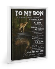 YOU ARE MY SON - TO SON FROM DAD 11x14 White Floating Framed Canvas Prints thumbnail