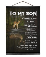 YOU ARE MY SON - TO SON FROM DAD 12x16 Black Hanging Canvas thumbnail