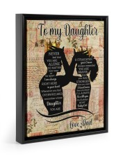 STRAIGHTEN YOUR CROWN - LOVELY GIFT FOR DAUGHTER 11x14 Black Floating Framed Canvas Prints thumbnail