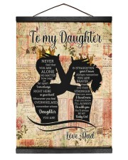 STRAIGHTEN YOUR CROWN - LOVELY GIFT FOR DAUGHTER 12x16 Black Hanging Canvas thumbnail