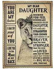 "I AM SO PROUD OF YOU - BEST GIFT FOR DAUGHTER Large Fleece Blanket - 60"" x 80"" front"