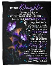 WE LOVE YOU - GREAT GIFT FOR DAUGHTER Fleece Blanket tile