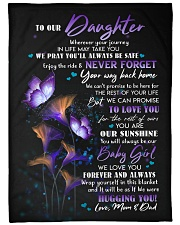 """WE LOVE YOU - GREAT GIFT FOR DAUGHTER Large Fleece Blanket - 60"""" x 80"""" front"""