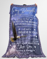 """AS MUCH AS I BELIEVE IN YOU Large Fleece Blanket - 60"""" x 80"""" aos-coral-fleece-blanket-60x80-lifestyle-front-10"""