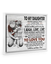 THE GIFT OF LIFE - AMAZING GIFT FOR DAUGHTER 14x11 White Floating Framed Canvas Prints thumbnail