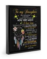 HOW VERY MUCH I LOVE YOU Floating Framed Canvas Prints Black tile